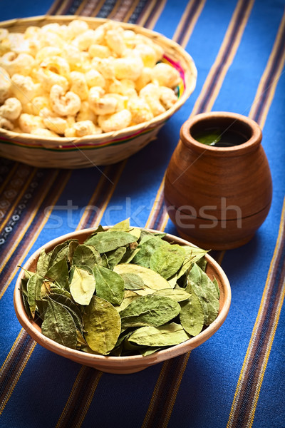 Dried Coca Leaves and Tea Stock photo © ildi