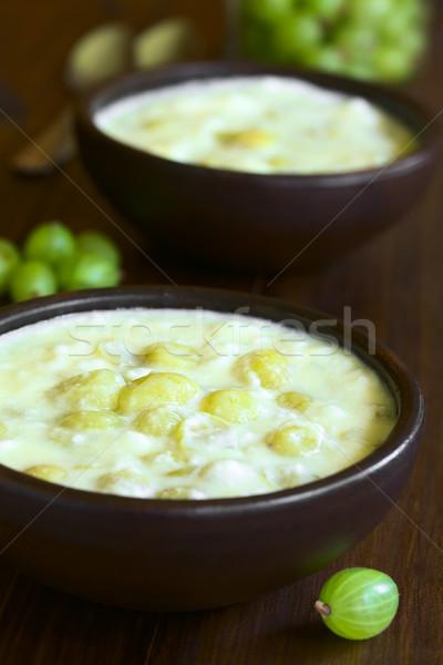 Pişmiş tatlı geleneksel süt yumurta Stok fotoğraf © ildi