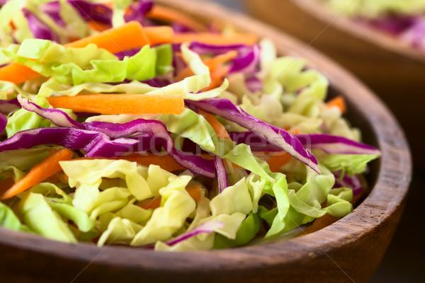 コールスロー 新鮮な サラダ 赤 白 キャベツ ストックフォト © ildi