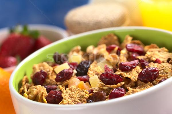 Photo stock: Céréales · séché · fruits · noix · délicieux · saine