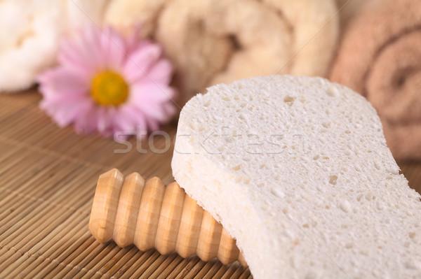Estância termal natureza morta massagem rolar esponja Foto stock © ildi