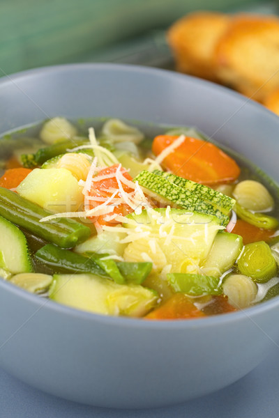 Fresh Minestrone Soup Stock photo © ildi