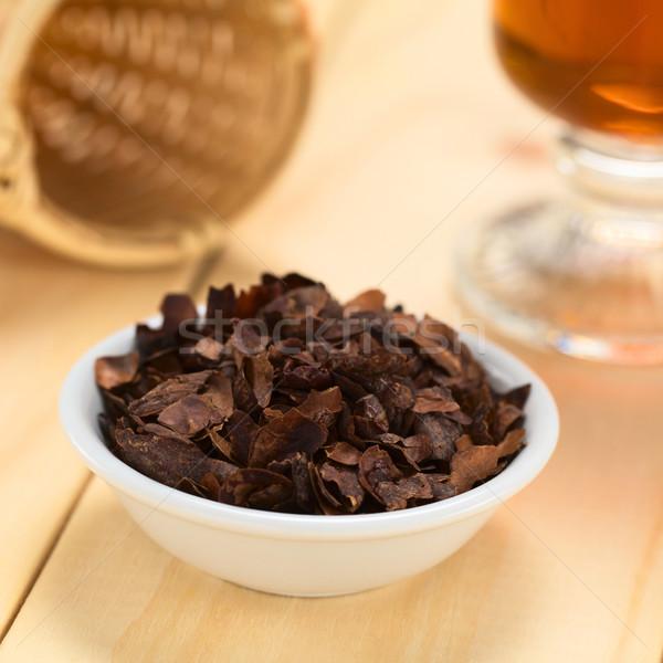Kakao kabuk çay zengin sığ Stok fotoğraf © ildi