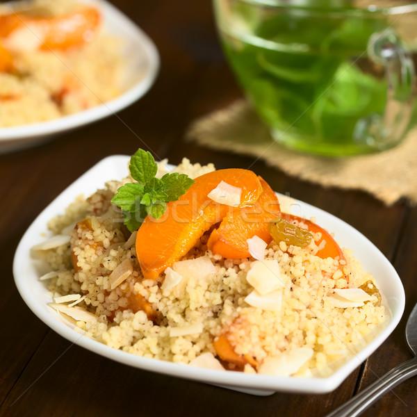 Apricot and Couscous Dessert Stock photo © ildi
