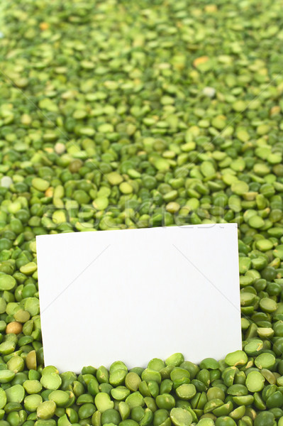 Raw Split Peas with Card Stock photo © ildi