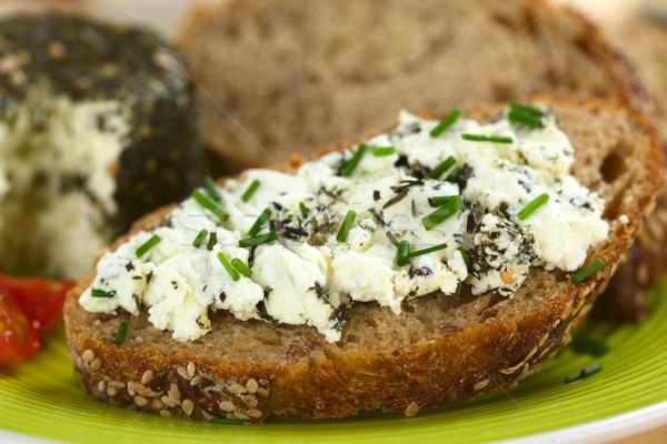 Wholegrain Bread with Goat Cheese Stock photo © ildi