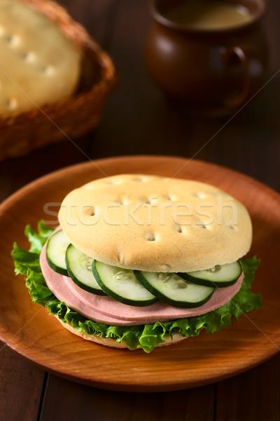 Chilean Hallulla Bread Roll Sandwich Stock photo © ildi