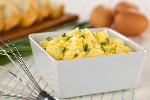 Scrambled Eggs Stock photo © ildi