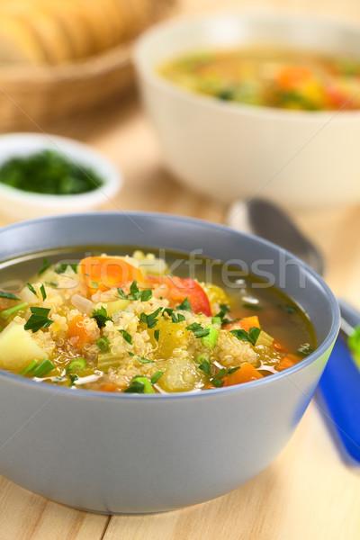 Vegetarian Quinoa Soup  Stock photo © ildi