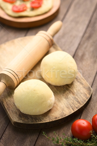 Balls of Yeast Dough Stock photo © ildi