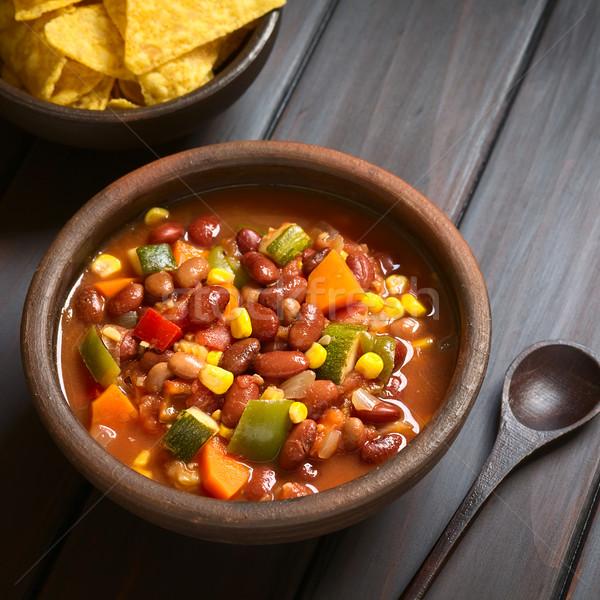 Vegetarian Chili Stock photo © ildi