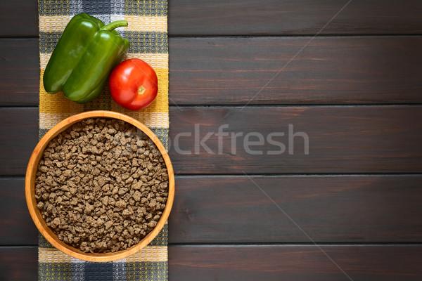 Raw Soy Meat Stock photo © ildi
