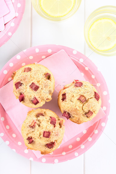 Rhubarb Yogurt Muffins Stock photo © ildi