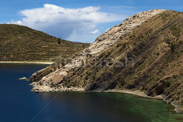 Isla del Sol (Island of the Sun) in Lake Titicaca, Bolivia Stock photo © ildi