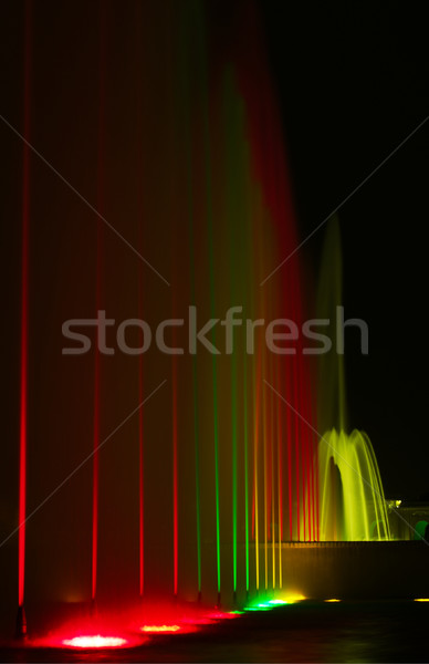 Colorfully Lit Fountains Stock photo © ildi