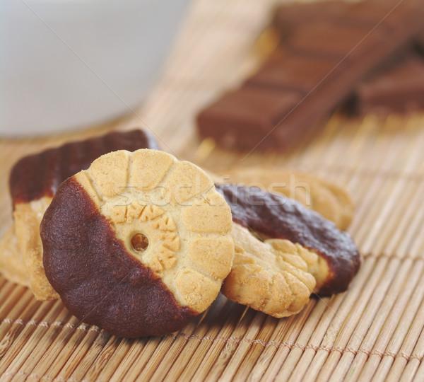 Burro cookies cioccolato ciliegina latte Foto d'archivio © ildi