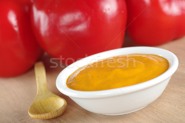 Peruvian Hot Salsa Made of Rocoto Stock photo © ildi