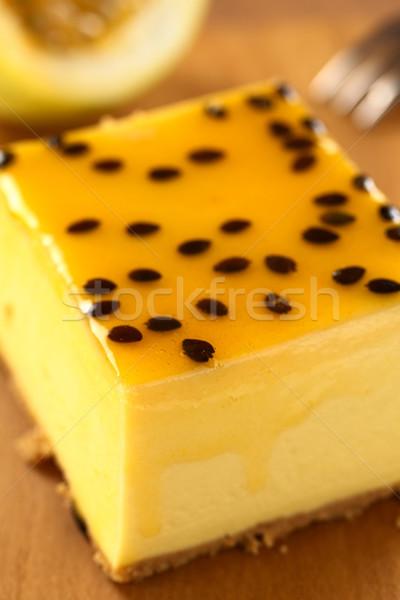 Passion Fruit Cheesecake Stock photo © ildi