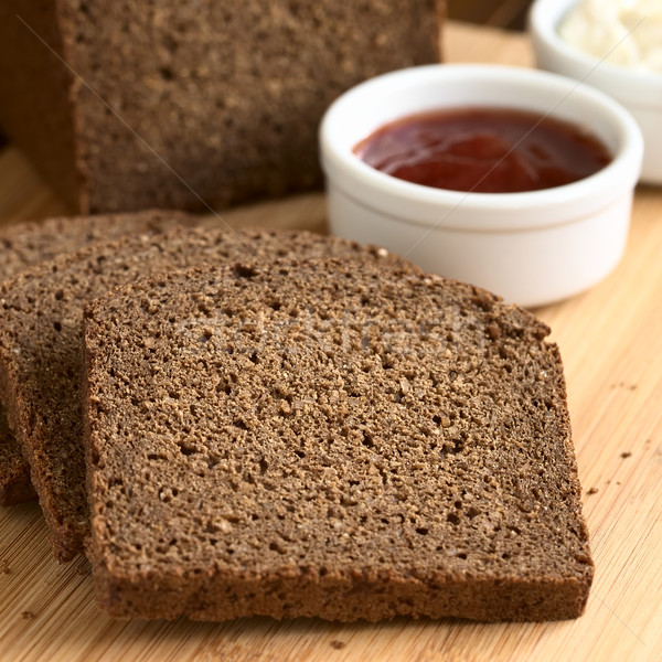 Pumpernickel Dark Rye Bread Stock photo © ildi