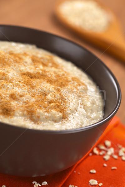 Cooked Oatmeal Porridge with Cinnamon Stock photo © ildi