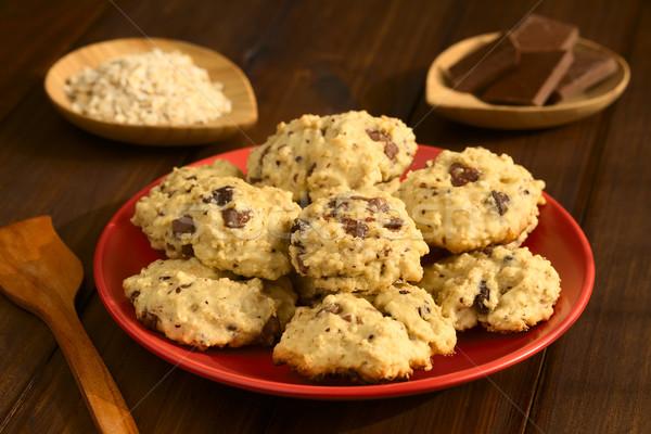 Oatmeal and Chocolate Cookies Stock photo © ildi