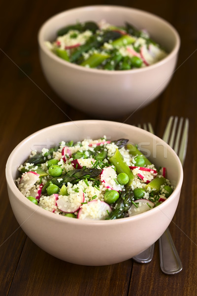 Couscous Asparagus Pea Radish Salad Stock photo © ildi