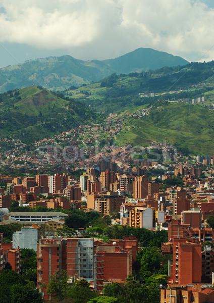 Колумбия второй город отдел дерево здании Сток-фото © ildi