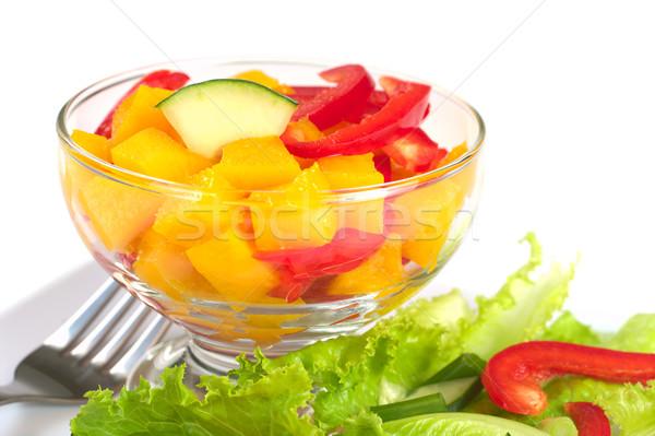 Mango, Bell Pepper and Cucumber Stock photo © ildi