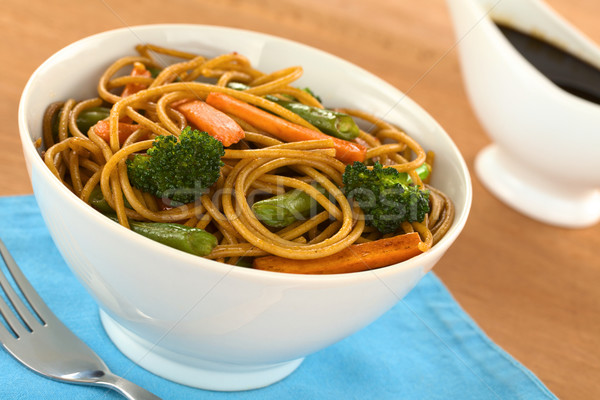 Vegetable Pasta Stir Fry Stock photo © ildi