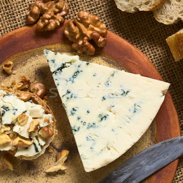 ブルーチーズ プレート 自然光 選択フォーカス フォーカス ストックフォト © ildi
