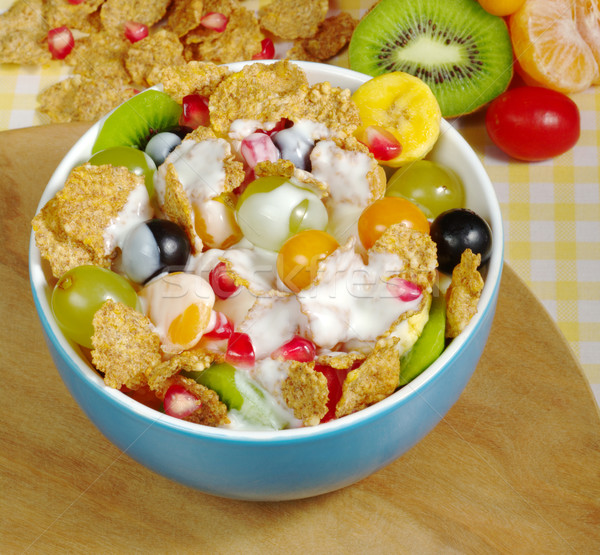 Fruits and Cereals with Joghurt Stock photo © ildi