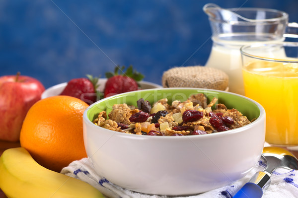 Wholewheat Cereal with Dried Fruits and Nuts Stock photo © ildi