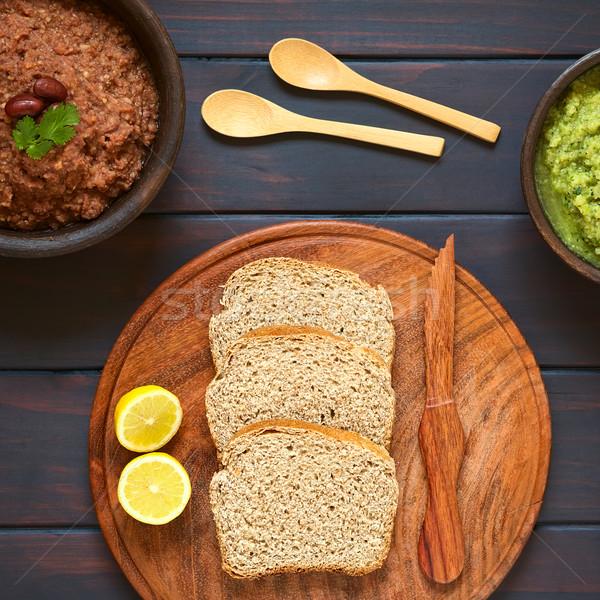 Foto stock: Pão · vegetal · tiro · fatias