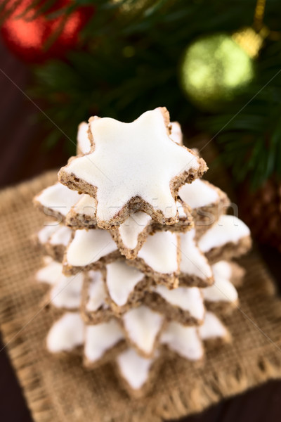 German Zimtsterne Christmas Cookies Stock photo © ildi