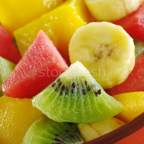 Tropical Fruit Mix (Kiwi, Mango, Banana, Melon) Stock photo © ildi