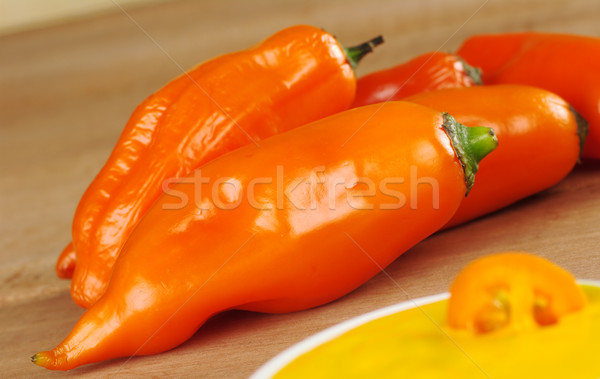Peruvian Hot Pepper Called Aji Stock photo © ildi