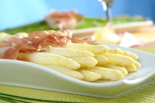 White Asparagus with Ham Stock photo © ildi