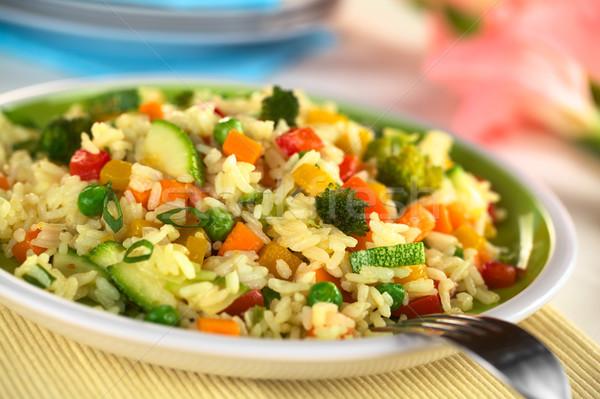 Vegetal risotto abobrinha cenoura vermelho Foto stock © ildi