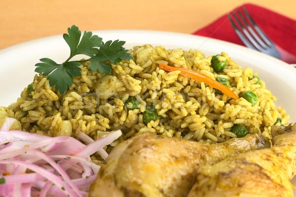Stock photo: Peruvian Dish Called Arroz con Pollo