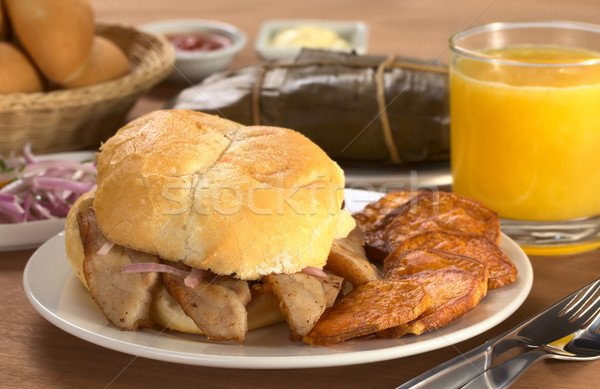 Stock photo: Typical Peruvian Breakfast