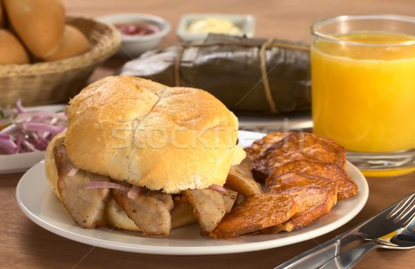 Typical Peruvian Breakfast  Stock photo © ildi