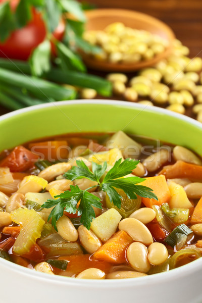 Vegetarian Canary Bean Soup Stock photo © ildi