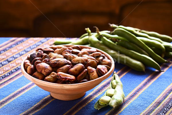 Toasted Fava Beans Stock photo © ildi