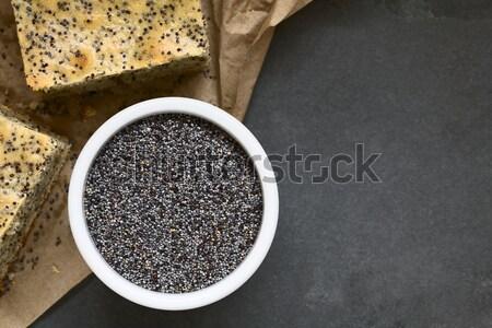 Magok szezám granola bár kicsi bambusz Stock fotó © ildi