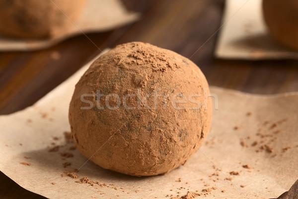 Rum bal eigengemaakt gedekt poeder pakpapier Stockfoto © ildi