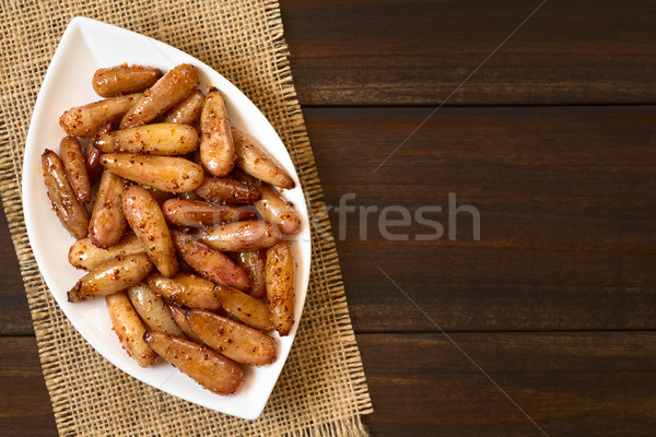 Fried Spicy Pine Nuts of the Chilean Pine Tree Stock photo © ildi