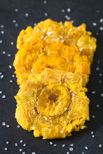 Salted Patacon Fried Plantain Slices Stock photo © ildi