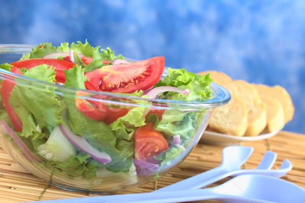 Light Summer Salad in Glass Bowl Stock photo © ildi