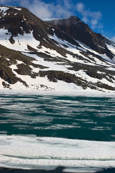 Tájkép északi Norvégia nyár terméketlen hegyek Stock fotó © ildi