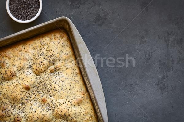 Eggnog and Poppy Seed Cake  Stock photo © ildi